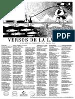 """Lira Popular """"Versos de la Laguna"""" N°3"""