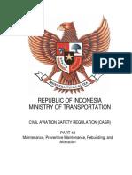 CASR Part 43 Amdt. 1 - Maintenance, Preventive Maintenance, Rebuilding and Alteration.pdf