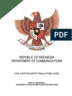 CASR Part 61 Amdt. 3 - Licensing of Pilots & Flight Instruct