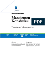 Modul 2 the Owners Prespective