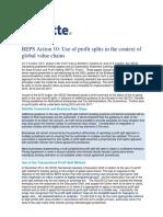 BEPS Action 10 - Scope of Further Work on Profit Splits - October 2015