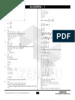 Algebra 1 (Solutions)