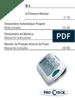 Monitor Pressao Arterial ProCheck_IB-WW1YB-3