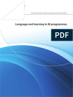 Language and Learning in i b Programmes