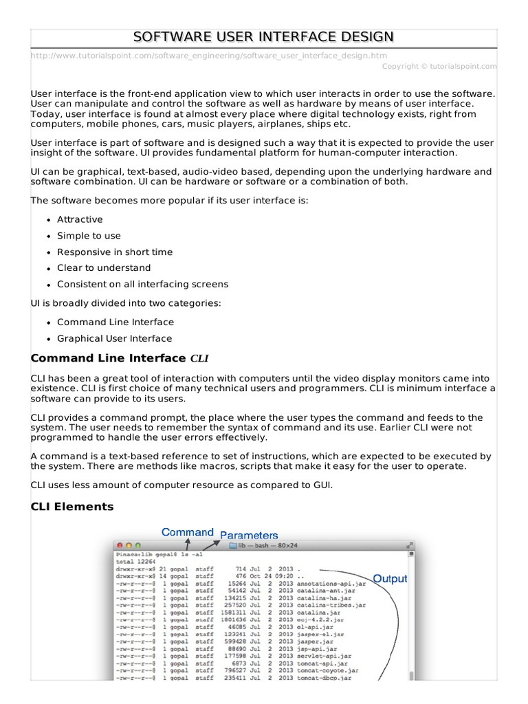 09software User Interface Design Pdf Graphical User Interfaces Command Line Interface