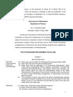 Uttarakhand Procurement Rules English