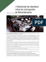 Acuerdo Nacional Se Declara Unido Contra La Corrupción Camino Al Bicentenario