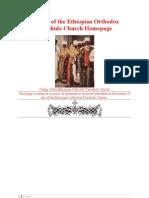 History of the Ethiopian Orthodox Tewahido Church