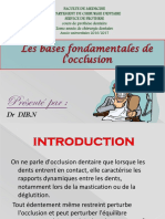 Occlusion 2eme medecine dentaire