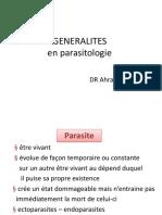 generalités dentaire en parasitologie