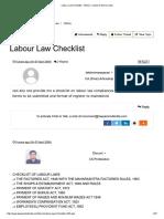 Labour Law Checklist - Others - Labour & Service Law