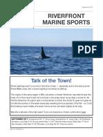 Riverfront Marine Sports Newsletter, September 2017