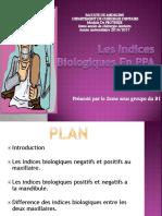 """Exposé """"Les Indices Biologiques En PPA"""""""