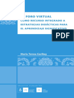 El foro virtual como recurso integrado a estrategias didácticas para el aprendizaje significativo