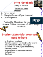 interactive student notebook student sci