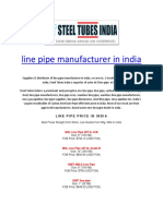 Line Pipe Manufacturer in India