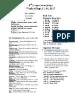 newsletter for sept 11-sept  15 20017wk6