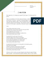 i Am Poem Assignment