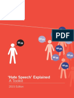 'Hate Speech' Explained a Toolkit (2015 Edition)