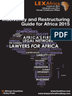 2015 LEX Africa Insolvency & Restructuring Guide -Africa