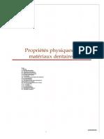 Propriete Physique