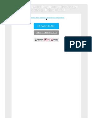 Ergonomics In The Automotive Design Process Pdf Download Human Factors And Ergonomics E Books