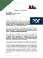 Fundamentación Del Derecho a La Vivienda (Actio)