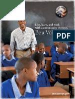Peace Corps Brochure 2012 Catalog