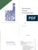 Dictionnaire Hydrogeologie