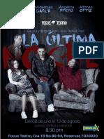LA ÚLTIMA NOCHE guión de teatro gratis en pdf
