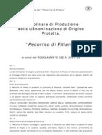 """Disciplinare di Produzione del """"Pecorino di Filiano"""" DOP"""