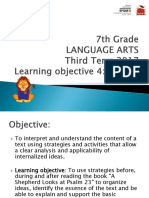 7th Language ARTS-Ind III-3rd Term 2017 (Week 1 Writing)