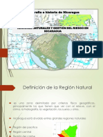 REGIONES NATURALES Y GESTIÓN DEL RIESGO EN NICARAGUA