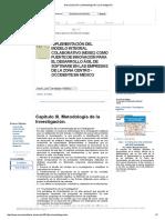 Descripción de La Metodología de La Investigación
