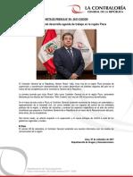 NP90-2017 | Contralor General desarrolla agenda de trabajo en la región Piura