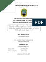 Proyecto de Tesis Evapotranspiracion Potencial y Kc Haba Virginia