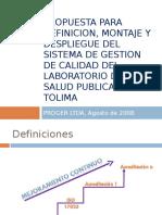Propuesta Para Definicion, Montaje y Despliegue Del