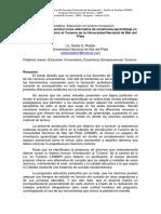 Modalidad Semipresencial Como Alternativa de Enseñanza-Aprendizaje en La Cátedra Introducción Al Turismo de La Universidad Nacional de Mar Del Plata