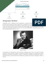 Biografia de Benjamin Britten