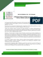 COMISIÓN DE PUEBLOS APROBÓ SU PLAN DE TRABAJO PARA EL PERÍODO LEGISLATIVO 2017 - 2018