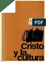 NIEBUHR Ricahrd Cristo y La Cultura PDF