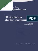 Arthur Schopenhauer Metafísica de las costumbres.pdf