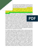Protocolo de Cartagena - Sga
