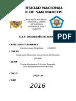 PROCESO METALURGICO MINA TOQUEPALA