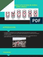 Residuos Peligrosos en La Corriente de Residuos Solidos