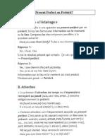 Present Perfect Ou Preterit Doc PDF