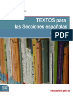 Textos Secciones Italia 2012