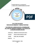 FACTORES DE LA INEFICACIA DE LA EXONERACIÓN DEL PAGO DEL IMPUESTO GENERAL A LAS VENTAS EN LA REGIÓN DE MADRE DE DIOS.docx