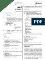 Biologia - Caderno de Resoluções - Apostila Volume 3 - Pré-Universitário - Biologia2 - Aula11