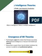 Chapter 4 Mutiple Intelligence Theories